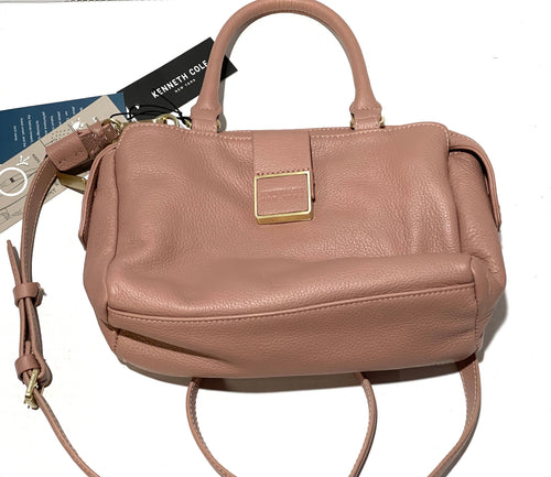 KENNETH COLE - New York Christie Leather Satchel (Blush)