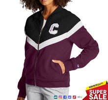 Load image into Gallery viewer, Champion - Women's Heritage Sherpa Bomber Jacket, Block C Logo, Purple