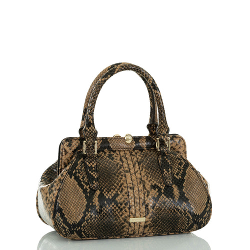 BRAHMIN - Mini Layla Felix Italian Leather Bag, New with Reticket Tags (Python Print)