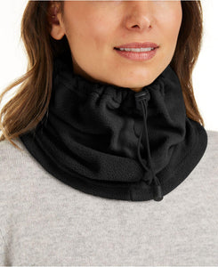 DKNY Drawstring Polar Fleece Neckwarmer / Face Covering - Unisex