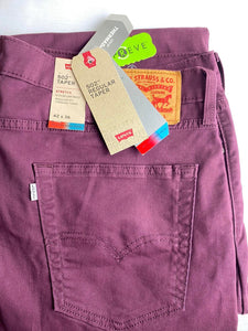 Levi's Strauss 502 Regular Taper Fit Chino Pant Burgundy Men's
