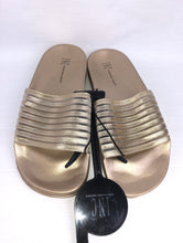 Load image into Gallery viewer, INC International Concepts - Women's Slides Gold Striped