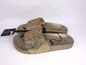 INC International Concepts - Women's Gold Glitter Slides