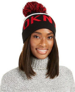 DKNY - Logo Stadium Beanie With Pom - One Size