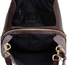 Load image into Gallery viewer, COACH - Polished Pebble Leather Dalton 31 Hobo Shoulder Bag Oxblood Brown Red