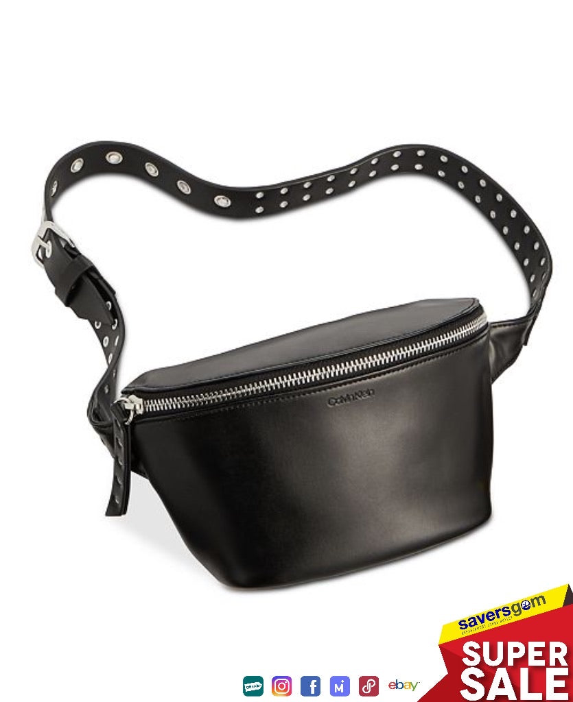 Calvin Klein Women's Leather Grommet Belt Bag