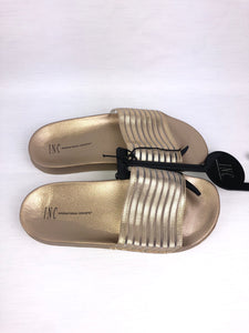 INC International Concepts - Women's Slides Gold Striped