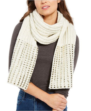DKNY - Women's Flat Stud Metallic Rib Knit Chunky Scarves , There Colors Available (One Size)