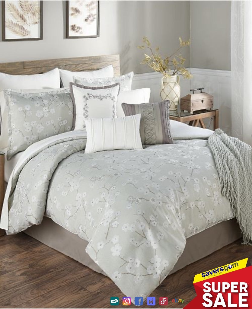 Hallmart Collectibles Bedding - Ayako 14-Pc CAL KING  Super Comforter Set