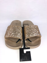 Load image into Gallery viewer, INC International Concepts - Women's Gold Glitter Slides