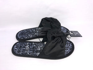 INC International Concepts - Women's Slippers Black Bow