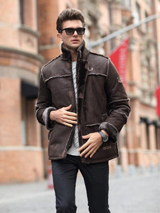 Men Casual Long Sleeves Winter Zipper Cardigan Coat
