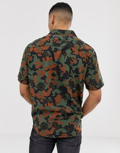 Men  Camo Print Short Sleeves Shirt