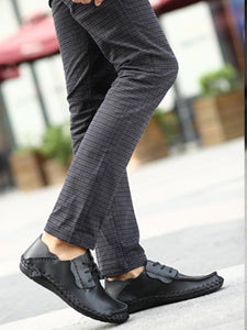 Men Casual Lace-up Loafer Flat Shoes