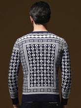 Load image into Gallery viewer, Men Printed Knitted Sweater Tops