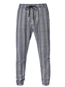 Men Casual Striped Tapered Pants