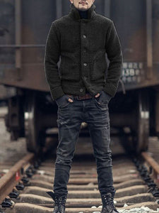 Men Winter Fashion Warm Teddy Outerwear