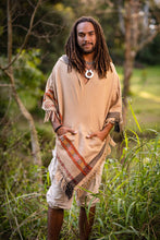 Load image into Gallery viewer, Men Asymmetric Hooded Poncho Boho Cloak