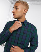 Load image into Gallery viewer, Men Lapel Plaid Blouse Shirt