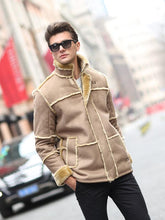 Load image into Gallery viewer, Men Casual Long Sleeves Winter Zipper Cardigan Coat