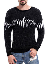Load image into Gallery viewer, Men Round Neck Printed Sweater Tops