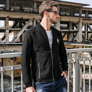 Men Stand Collar Jacket Coat