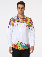 Load image into Gallery viewer, Men's Printed Long Sleeve Blouse Shirts