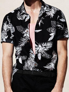Men Short Sleeves Hippie Style Shirt