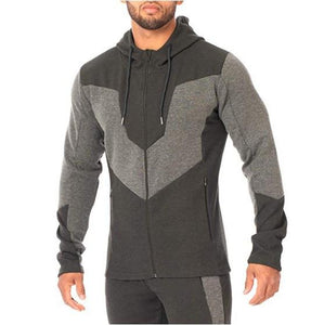 Men Casual Splicing Hoodie Sweatshirt