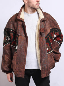 Men Stitching Pattern Jacket