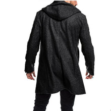 Load image into Gallery viewer, Men Double Breasted Hoodie Overcoat