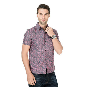 Men Short Sleeves Lapel Shirt