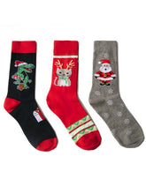 Load image into Gallery viewer, 3Pairs Christmas Breathable Cotton Socks(For US Size9-11)
