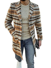 Load image into Gallery viewer, Man Stripe Lapel Cardigan Coat