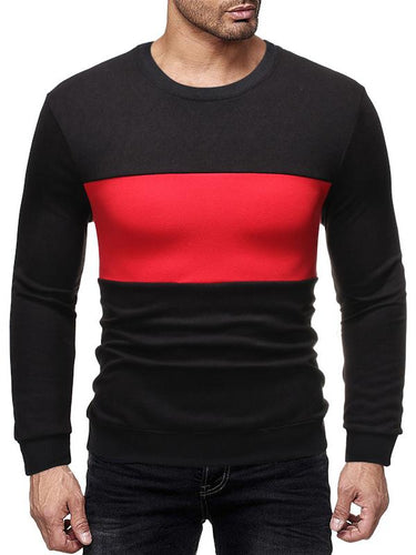 Men Color Block Casual Sweatshirt