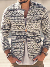 Load image into Gallery viewer, Men Casual Knitted Printing Outerwear