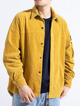 Load image into Gallery viewer, Men Casual Long Sleeves Corduroy Cardigan Coat