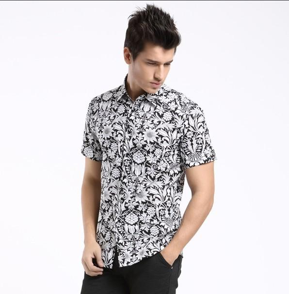 Men Vacation Printed Short Sleeves Shirt