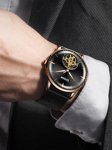 Men Casual Style Clock Stainless Steel Quartz Watches