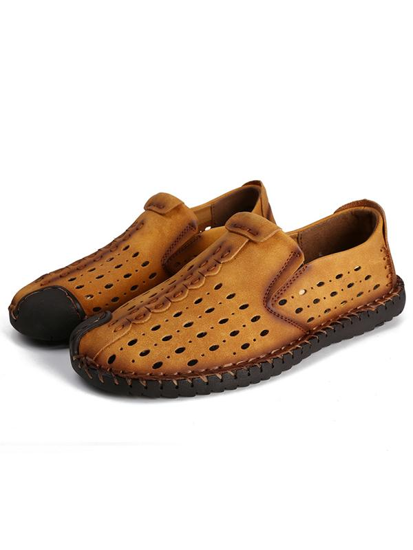 Solid Slip-on Breathable Casual Flat Loafers Shoes