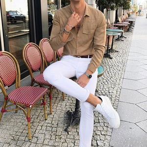 Men Casual Blouses&Shirts Tops