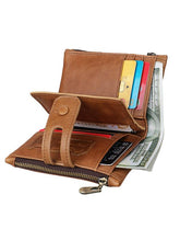 Load image into Gallery viewer, Solid Zipper Leather Wallet Handbag