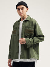 Load image into Gallery viewer, Casual Solid Military Style Men's Shirt