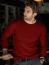 Load image into Gallery viewer, Men Round Neck Long Sleeve Sweater Tops