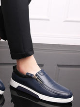 Load image into Gallery viewer, Solid Zipper Casual Flat Loafers Shoes