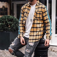 Load image into Gallery viewer, Men Casual Plaid Long Sleeve Shirt