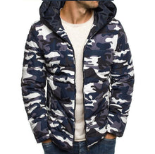 Load image into Gallery viewer, Men Camouflage Pattern Hoodie Cardigan