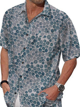 Load image into Gallery viewer, Men Casual Short Sleeves Printed Shirt