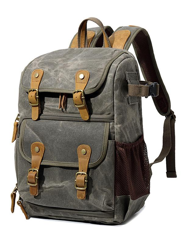 Men Vintage Canvas Outdoor Photography Casual Backpack