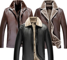 Load image into Gallery viewer, Men Fur Collar Lapel Jacket Coat